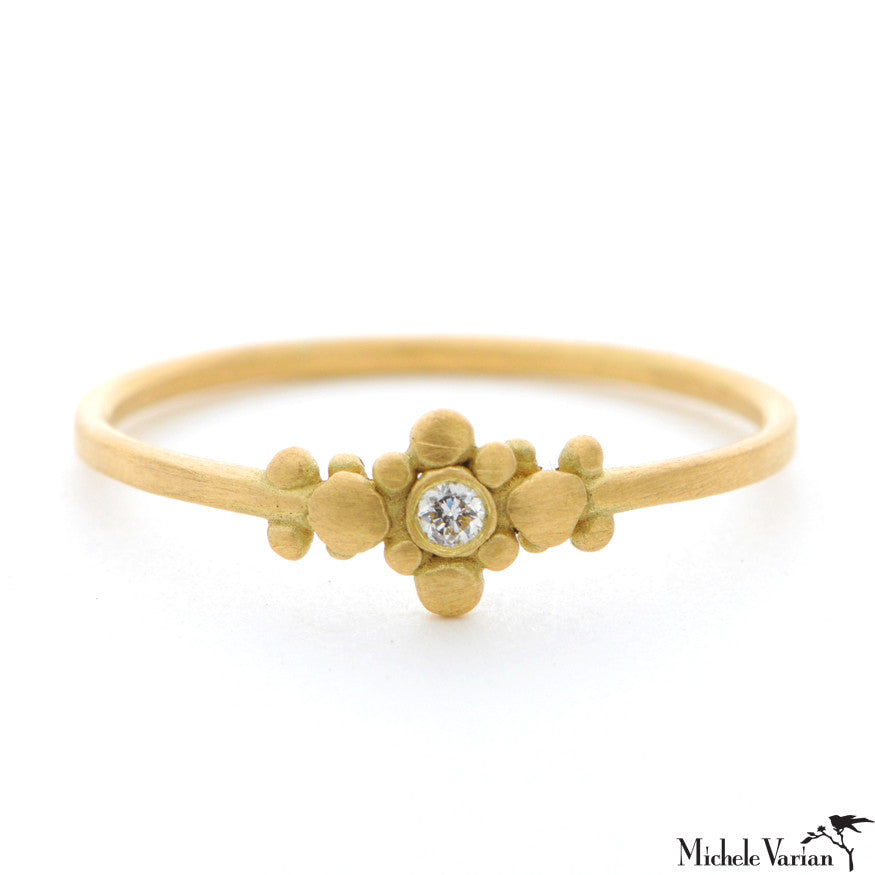 Tiny Gold and Diamond Ring