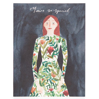 Youre So Special Foil Dress Card