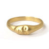 Medium Gold Face Ring