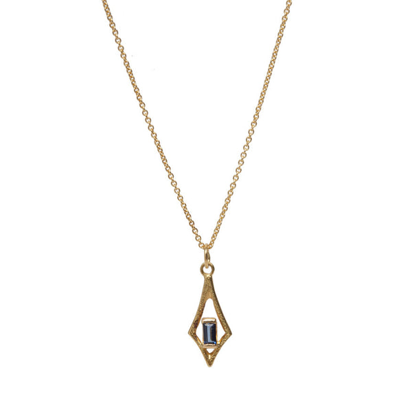 Sapphire Baguette Frosted Necklace