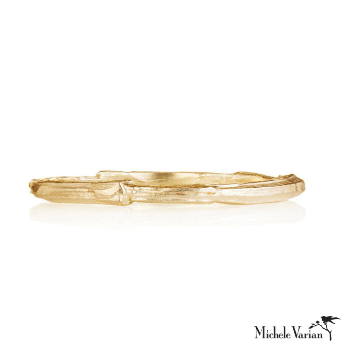 Gold Textured Ridge Ring