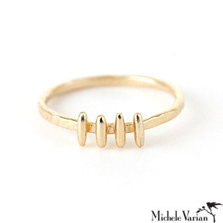 Gold Vertical Bar Ring