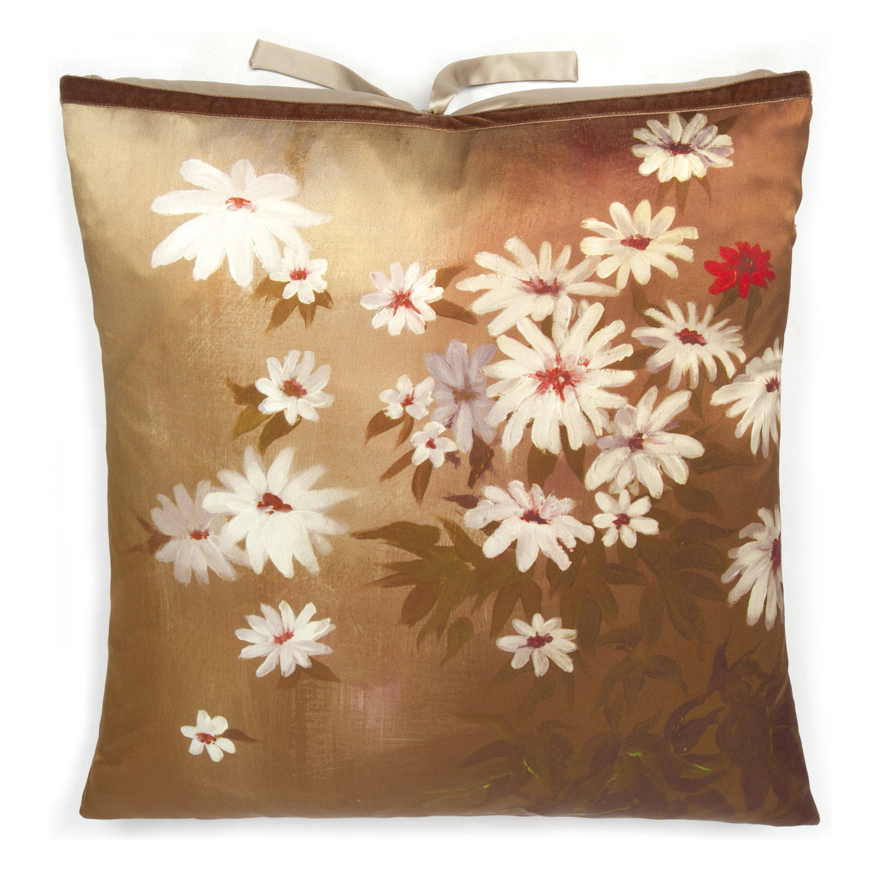Silk Print Pillow Golden Daisy 20x20