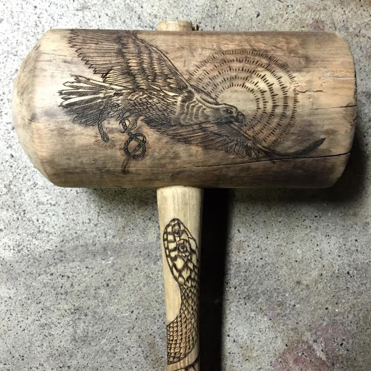 Golden Eagle and Bullsnake Carnie Mallet