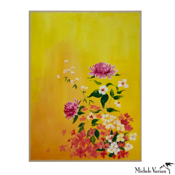 Golden Flowers Painting By Michele Varian
