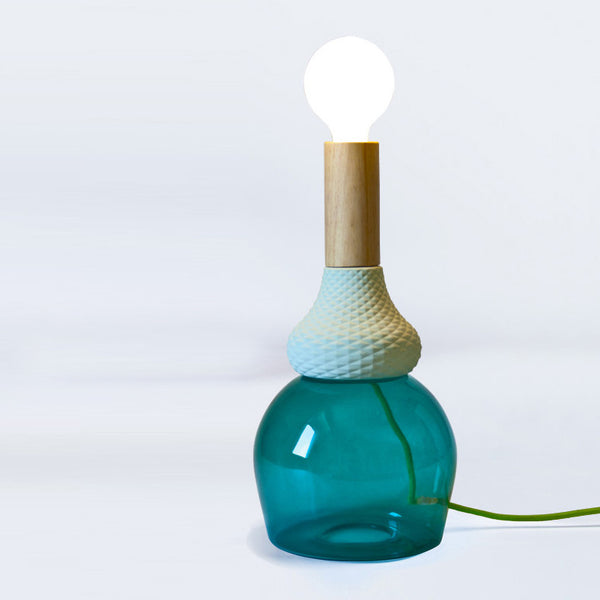 Glass Bong Table Lamp Green