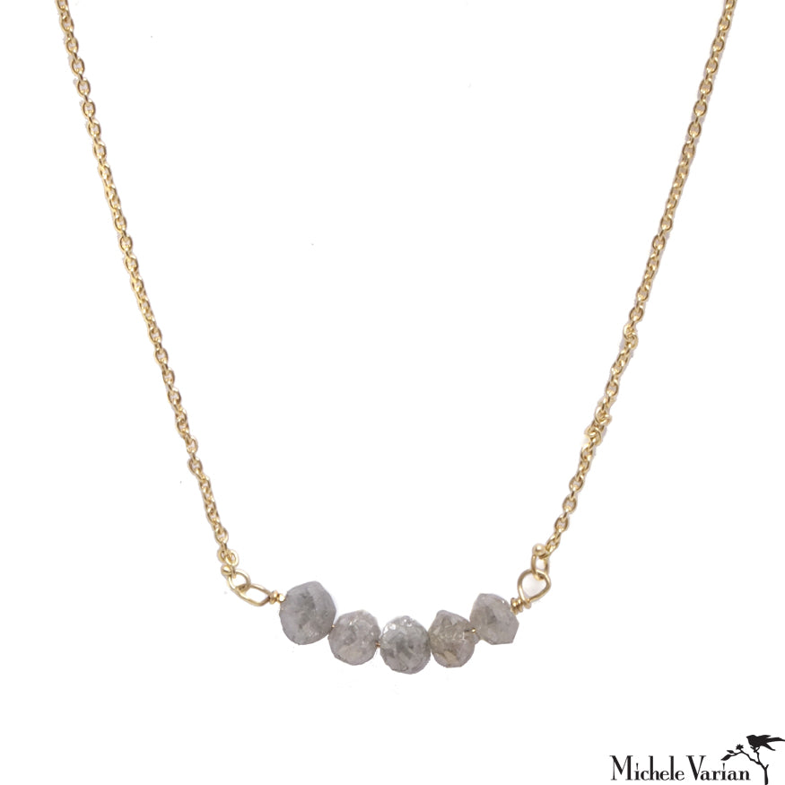 Grey Diamond Necklace