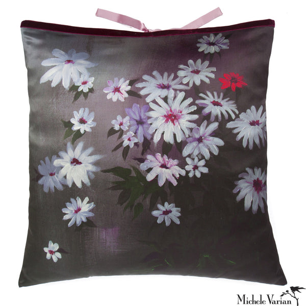 Silk Print Pillow Shadow Garden  20x20