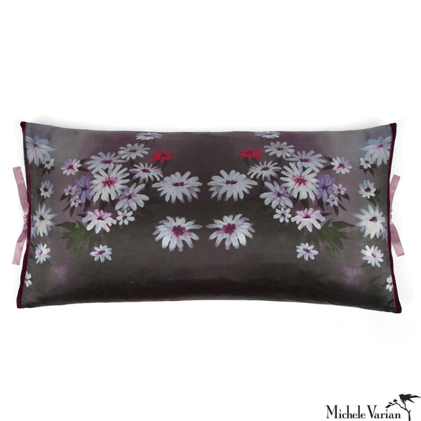 Silk Print Pillow Shadow Garden  20x36
