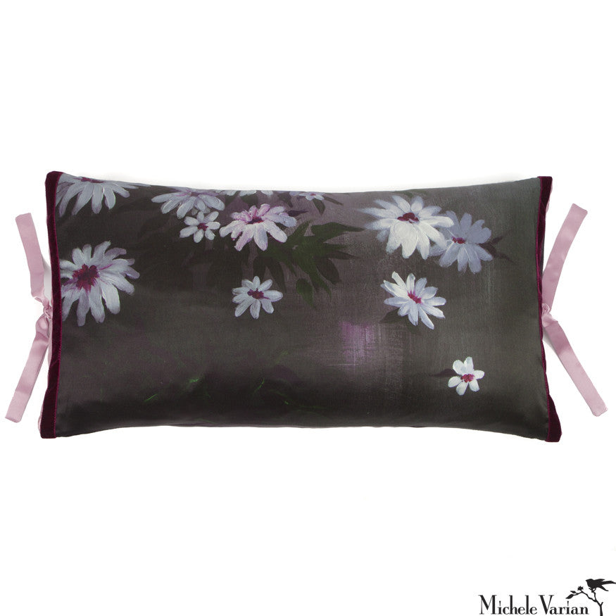 Silk Print Pillow Shadow Garden 12x22