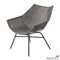 Grey Rattan Lounge Chair