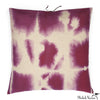 Printed Linen Pillow Grid Plum 24x24