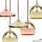 Copper Finial Disk Pendant Light