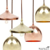 Finial Disk Pendant Lamp in Brass