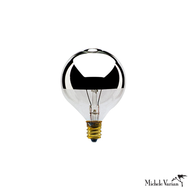 Incandescent Filament Half Mirror E12 Base Bulb