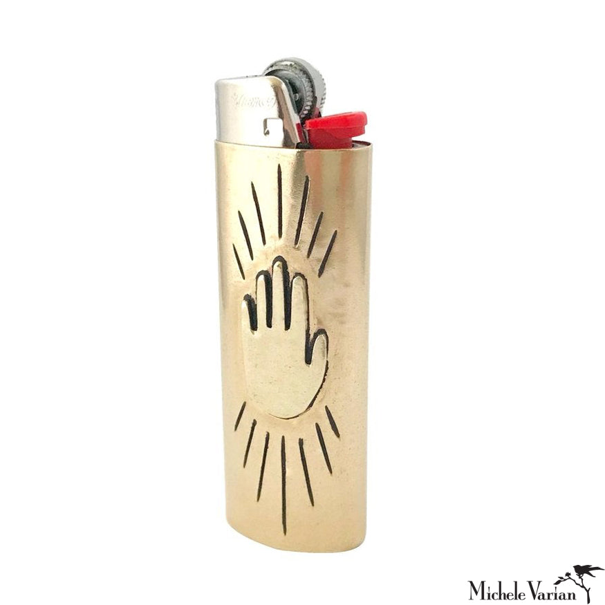 Brass Hand Lighter Case