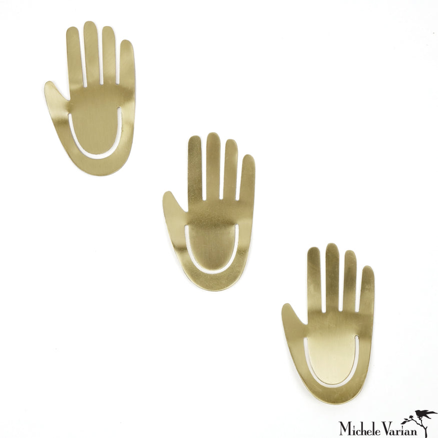 High Five Brass Clip Set of 3