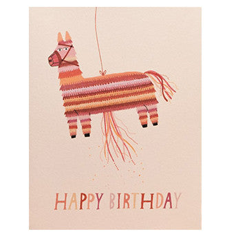 Happy Birthday Donkey Pinata Card