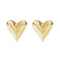 Carved Heart Stud Earrings
