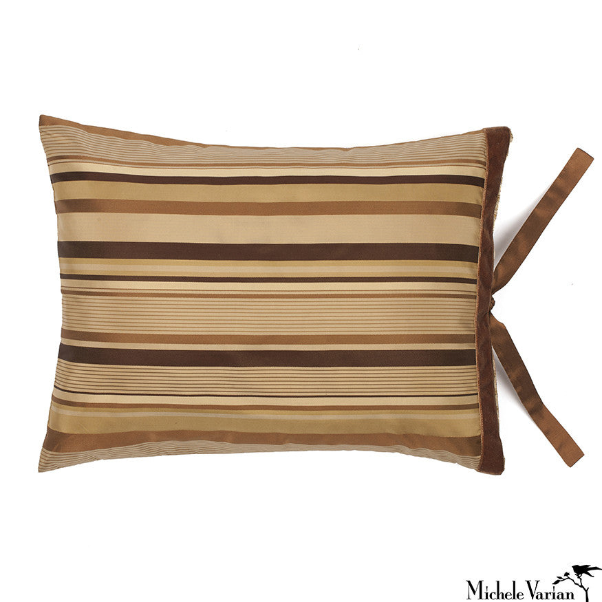 Silk Hollywood Stripe Brown 12x16