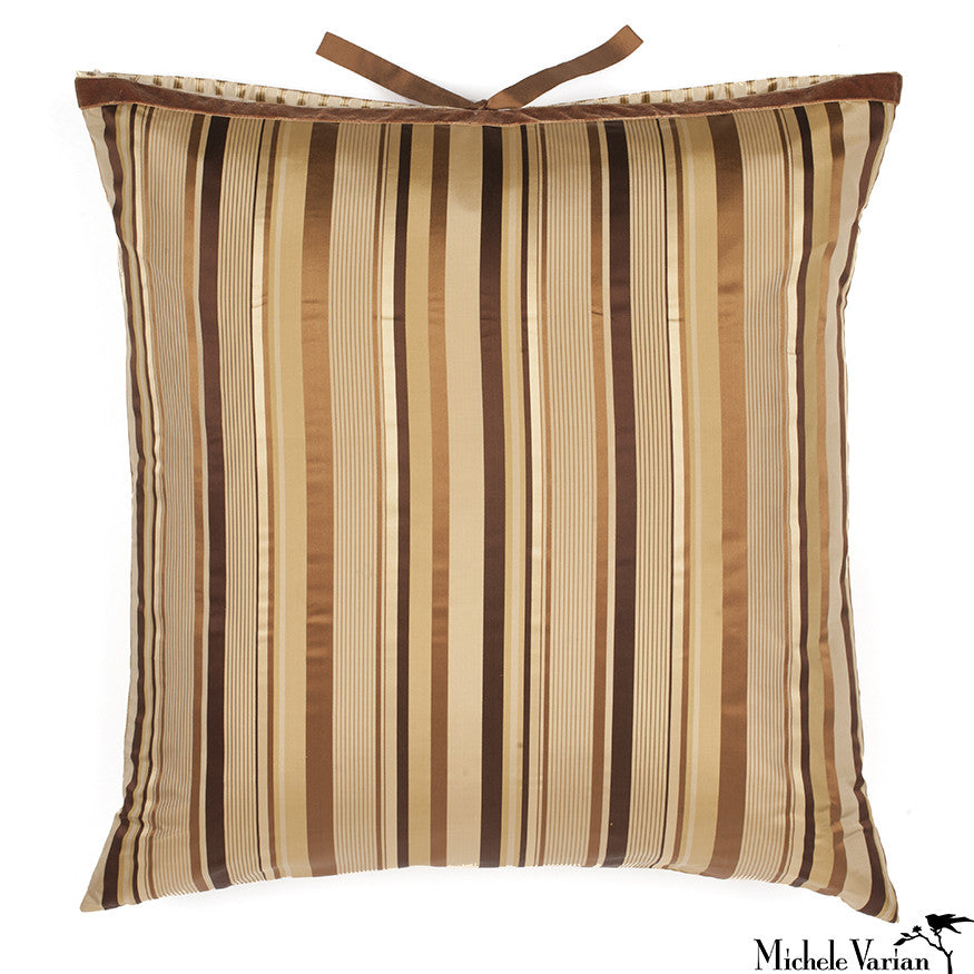 Silk Hollywood Stripe Brown 24x24