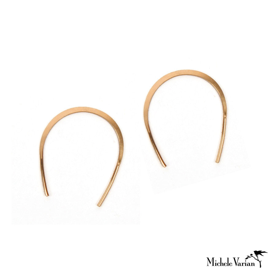 Horse Shoe Hoops Gold Large