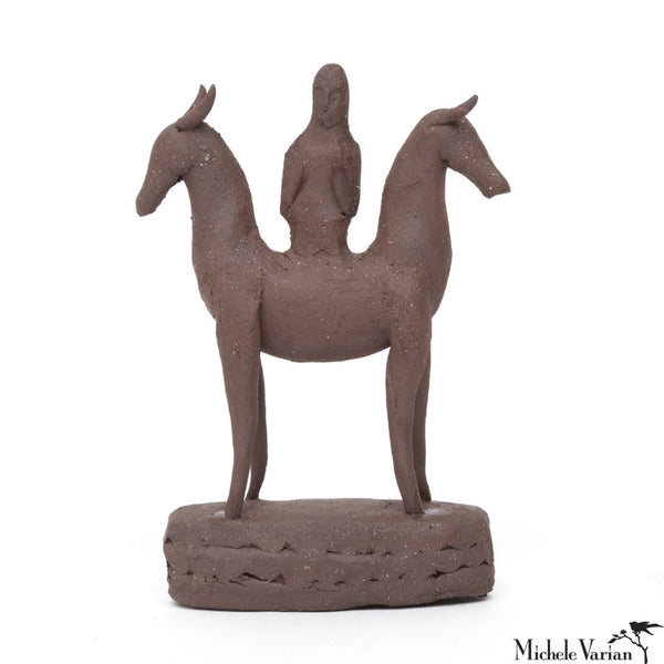 Mini Horse Goddess Sculpture Terracotta