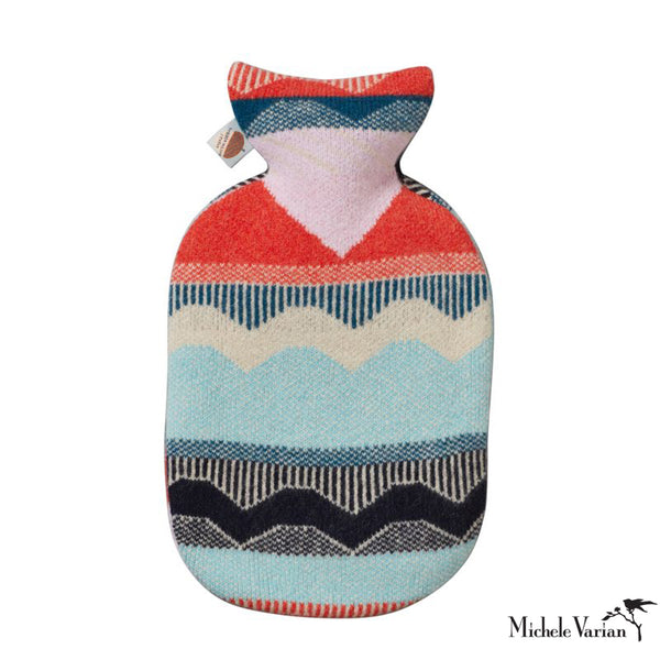 Circus Hot Water Bottle Blue / Red