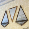 Triangle Shaped Wood Mirror