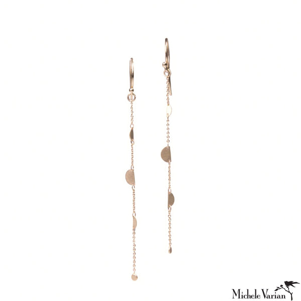 Snippets Strand Gold Dangly Earrings