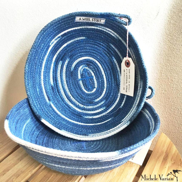 Denim Blue Rope Bowl