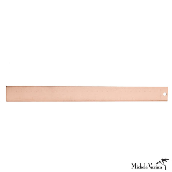 Copper Plated Ruler