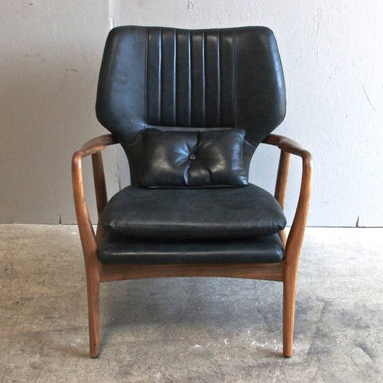 Retro Leather Lounger