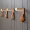 Peg And Strap Wall Hook - Natural Maple