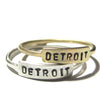 Goldeluxe Jewelry Detroit Nameplate Ring