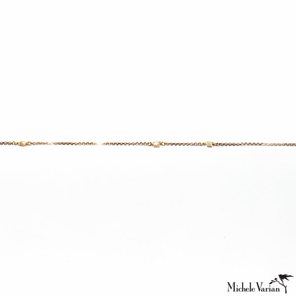 Tiny Diamond Reflection Gold Bracelet