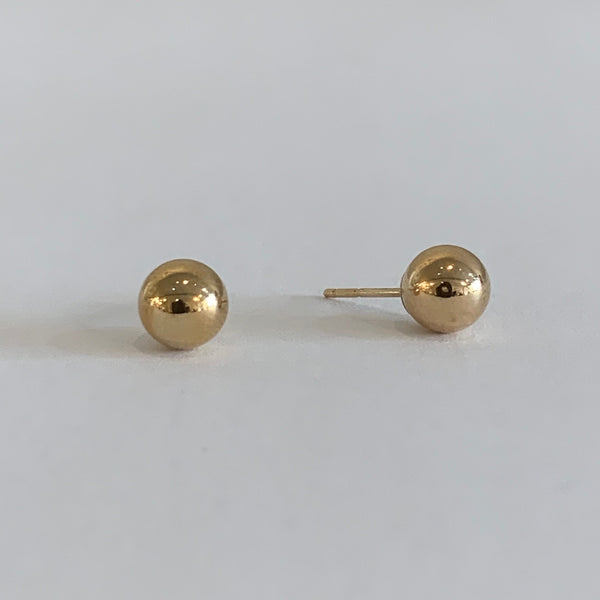 Large Gold Ball Stud Earring