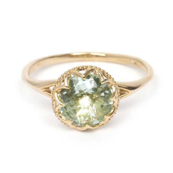 Green Amethyst Princess Ring