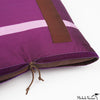 Silk Applique Pillow Intersection Plum 16x16