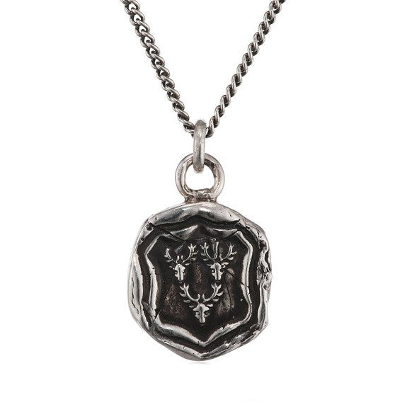 Silver Wax Seal Intuition Necklace