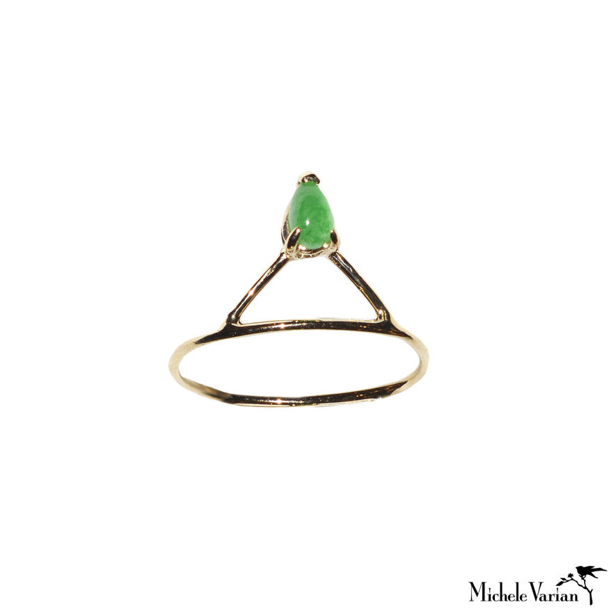 Jade Accent Gold Ring