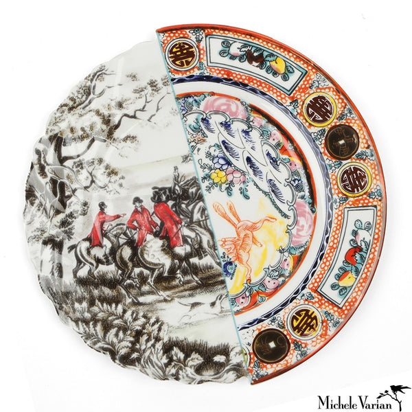 Juxtaposed Eusafia Porcelain Dinner Plate