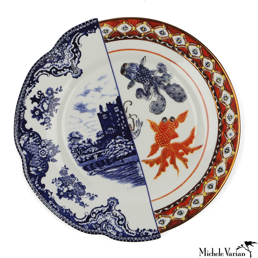 Juxtaposed Isaura Porcelain Dinner Plate