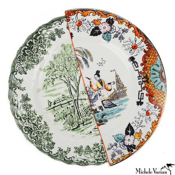 Juxtaposed Ipazia Porcelain Dinner Plate