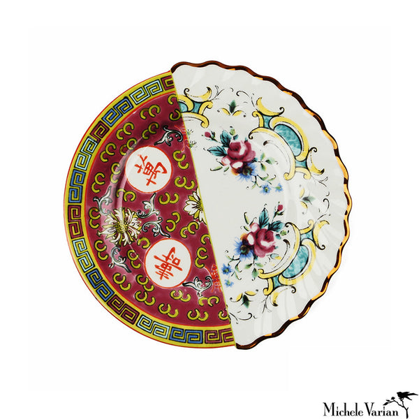 Juxtaposed Eudossia Porcelain Side Plate