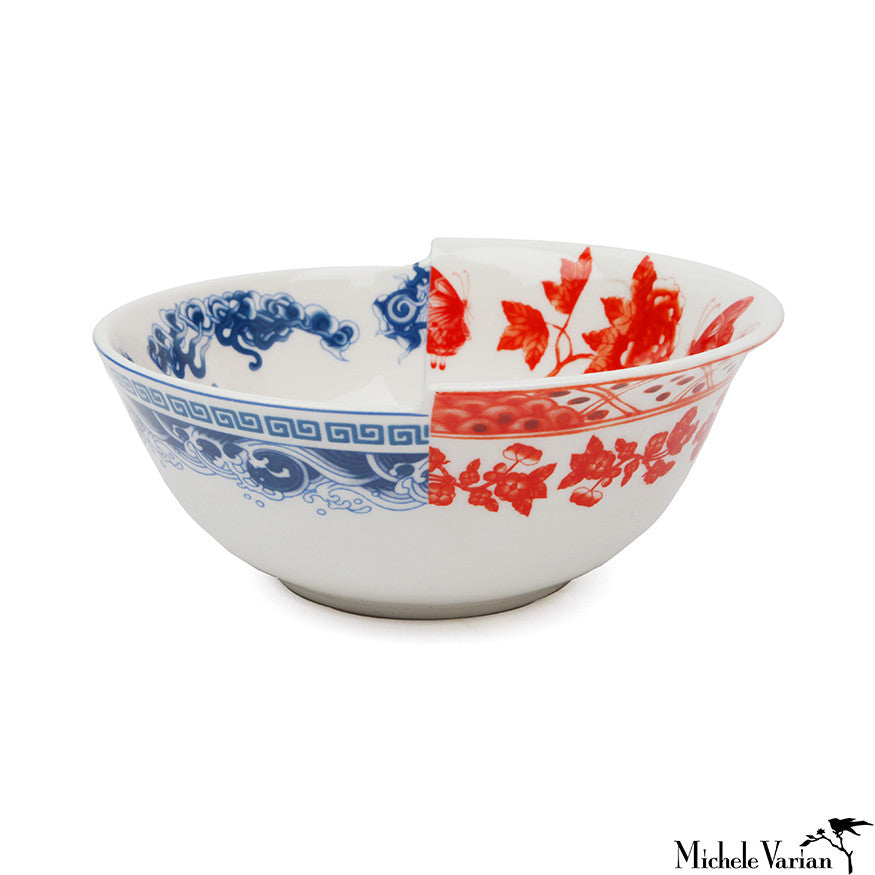 Juxtaposed Eutropia Porcelain Bowl