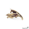 Muskrat Jaw-Bone Brass Sculpture