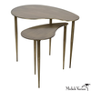 Brass Finish Kidney Side Table A