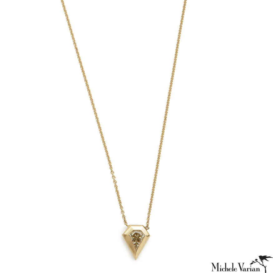 Kite Diamond Shape Gold Necklace