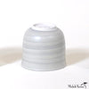 Hand Painted Wash Glaze Gray Porcelain Cups or Bowls sets of 4